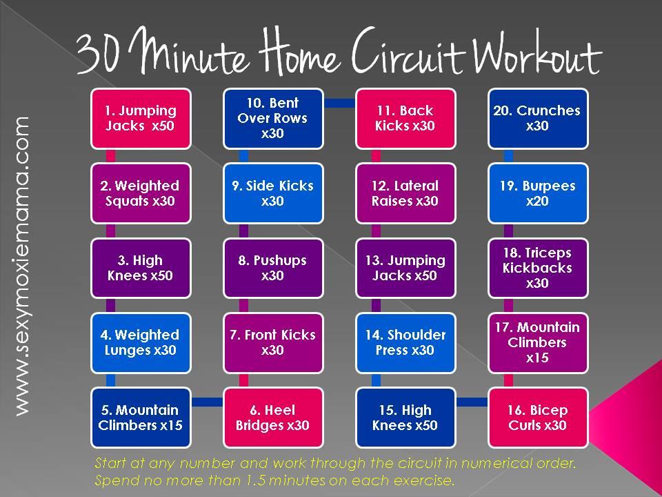Ymoxiemama 30 Minute Home Circuit Workout