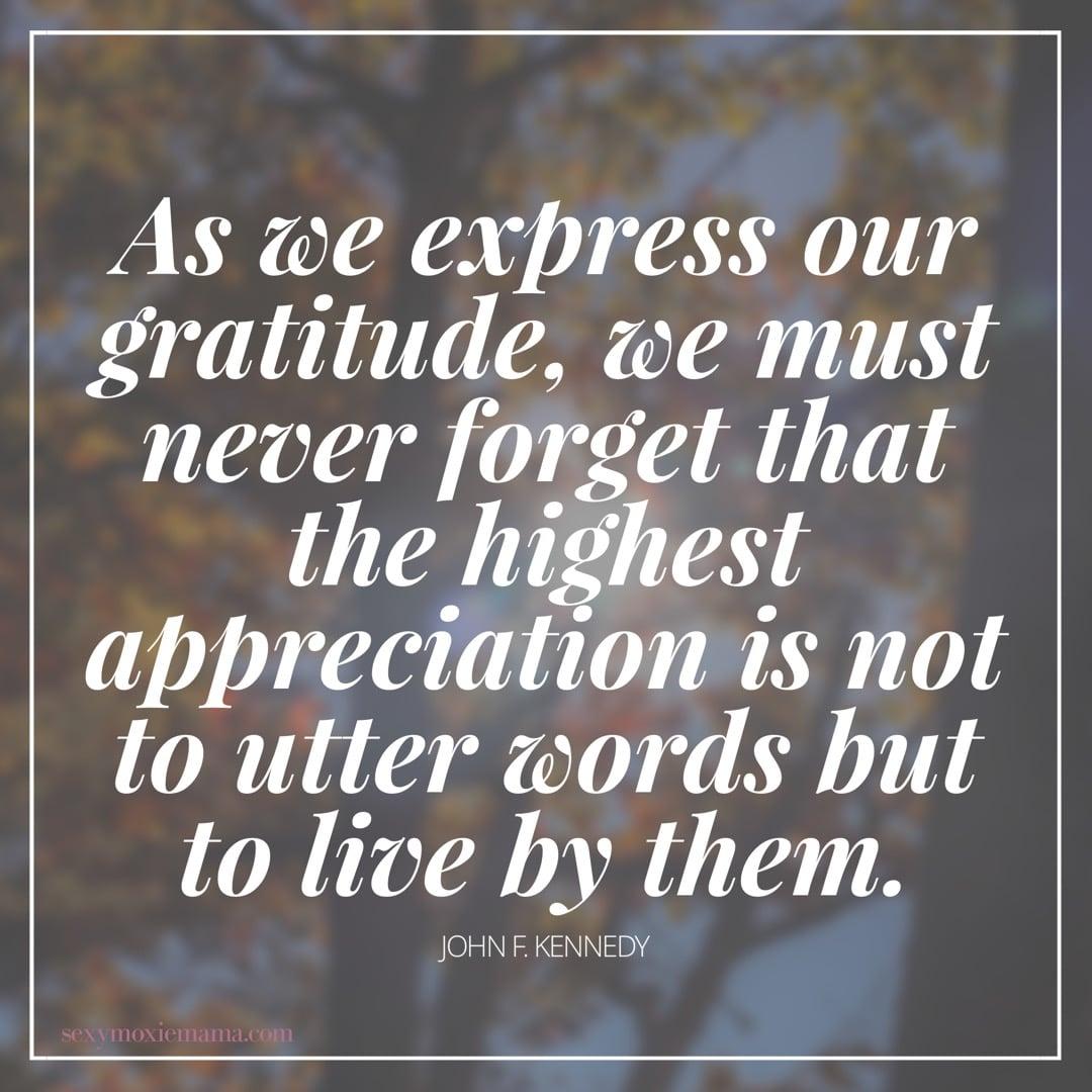 Gratitude JFK Quote