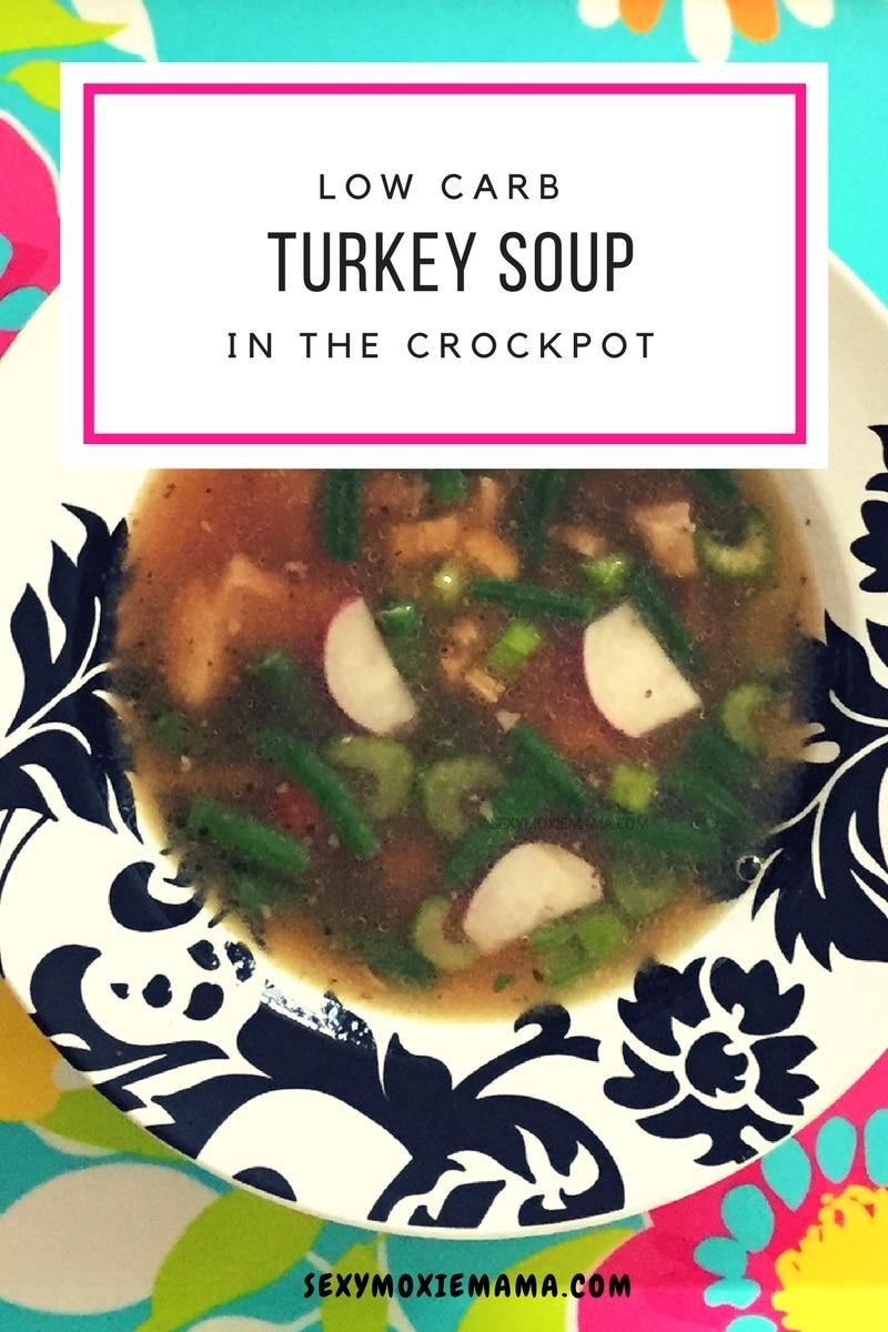 crockpot keto turkey soup