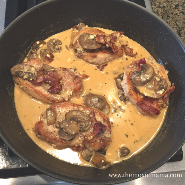 Simple One Pan Smothered Keto Pork Chops The Moxie Mama